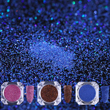 Holographic Nail Glitter Powder 0.1mm 0.3mm Blue Brown Rose Red Ultrafine Round Holo Laser Nail Dust Manicure UV Decoration