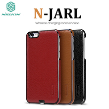 For iPhone 6 Nillkin newly launched N-Jarl imported leather wireless charging protective shell For iPhone 6S Mobile Phone Cover(China)