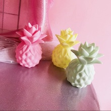 Pineapple apple pear ice cream fruit LED night light for children 's room Christmas decoration toys(China)