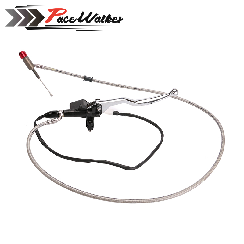 Free Shipping 1200mm Black Hydraulic Clutch Lever Master Cylinder For 125-250cc Vertical Engine Offroad Motorcycle Pit Dirt Bike<br>