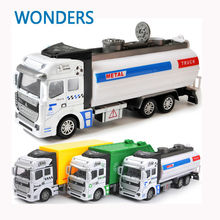 truck garbage truck carrier vehicle waste truck tank car eco-friendly car transport vehicle model toy as gift for boy children(China)