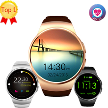 Kw18 smart watch sim phone support tf card support heart rate monitor mtk2502 smartwatch for android ios smartphone vs g3 gs2(China)