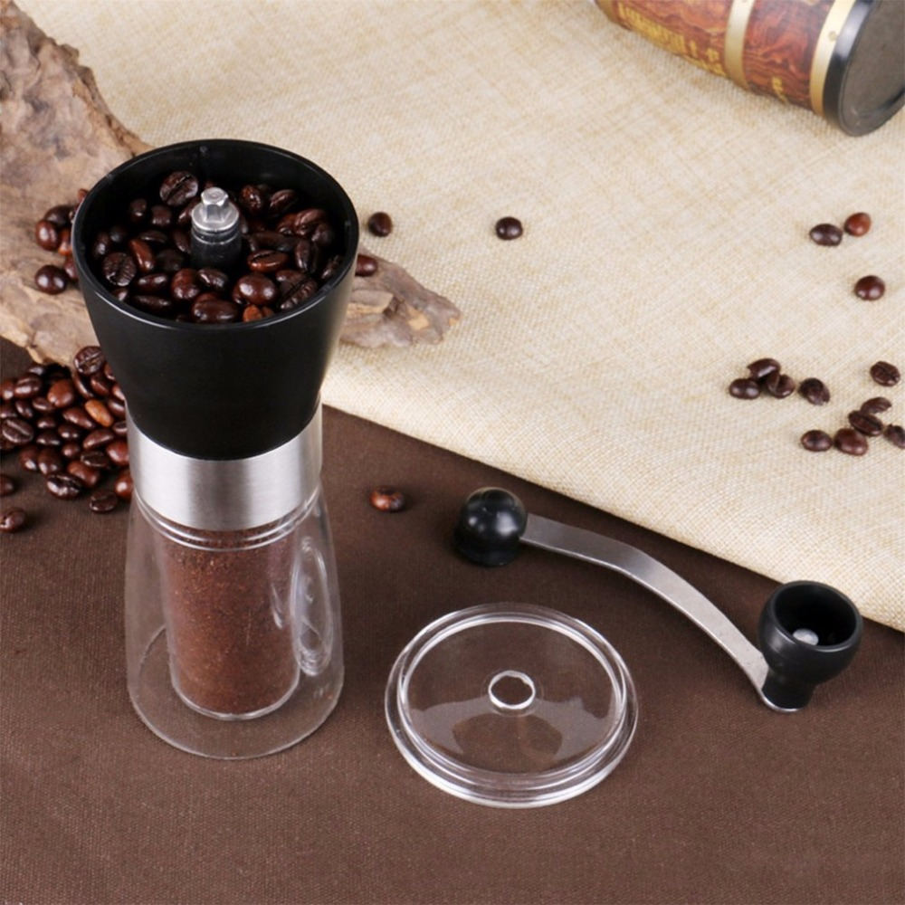 Hand Grinder Manual Coffee Grinder Plastic Coffee Machine Hand Coffee Bean Grinder Ceramic Grinding Core Washable Grinder