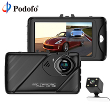 "Buy Podofo Car DVR Dual Lens Dash Cam Camera Full HD 1080P 3"" IPS Front+ Rear View Backup Camera Night Vision Video Recorder DashCam for $42.99 in AliExpress store"