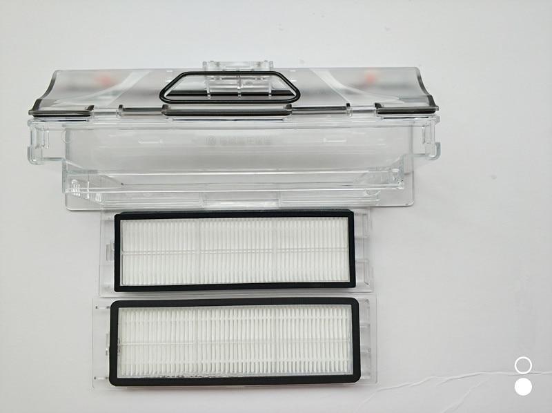 3pcs original vacuum cleaner parts 1pcs robot Vacuum Cleaner Dust Bin Box +2pcs HEPA Filter for xiaomi robotisc Sweeper mi robot<br>