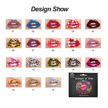 Wholesale 12pcs Mix Design Waterproof Disposable Temporary Tattoo Lip Stickers Red Gold Silver indians Style Halloween Christmas(China)