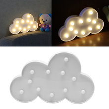 HNGCHOIGE LED Night Light 3D Marquee Cloud Lamp With 11 LED Battery  Operated  Cloud Night Light