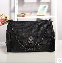 New trend of female bag rivet ghost hand stitching Sheepskin shoulder bag casual diagonal leather ladies bags
