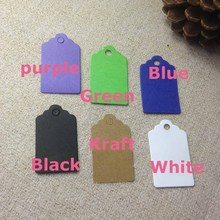 Wholesale Purple High Quality Hang Tag 30x50 mm New Design Look Fashion Wedding Favour Tag Place Tag 1lot =300 pcs tags(China)