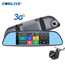 2016 new 3G WCDMA wireless Android GPS Navi car DVR camera bluetooth WIFI FM dual cam rearview dash cams car video recorder dvr