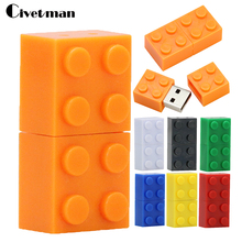Toy Brick Flash Drive 128GB USB Flash Drive 64GB Plastic Building Block Pendrive Gift 32GB Pen Drive Real Capacity USB Stick(China)