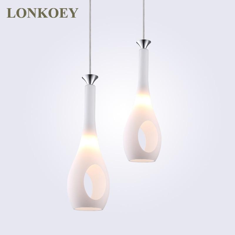 Modern led pendant lights for home glass lampshade pendant lamps bedroom lamp Pendant Lighting for Restaurants/dinning room E27<br>