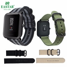 Buy Eastar Colorful Nylon wristband Xiaomi huami Amazfit Smart Watch Youth Edition Bip BIT PACE Lite band strap fitness bracelet for $4.99 in AliExpress store