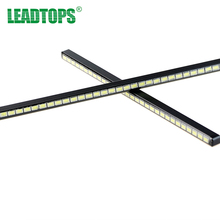 2pcs/lot 24LEDs Per piece 16.5cm Long SMD 5730 LED Car DRL Fog Daytime Running Light Bar Ultra-thin Invisible Waterproof CE