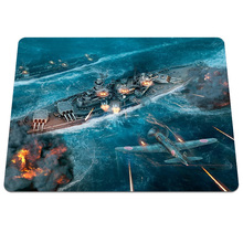 Hot Game World of Warships Printing Mousepad Anti-slip Optical Rectangle Mice Mat PC Computer Gaming Speed Play Pads