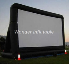 Customized portable oxford giant inflatable movie screen inflatable rear projection screen for outdoor events