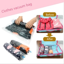 Vacuum Roll-up Storage Bag Compressed Pouch Space Saved Seal Compression Luggage(China)