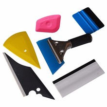 EHDIS 6PCS Vinyl Film Wrap Tool Kit 3D Carbon Fiber Window Tints Squeegee Ice Scrapers Water Snow Shovel Car Cleaning Tool Set(China)