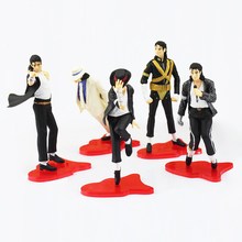 "5pcs/lot 11cm New MICHAEL JACKSON FIGURES Dolls Cool Pose Figures Model Toy 4"" Classic Collectible Toys"