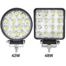1PCS 42W LED Work Light Spotlight for Indicators Motorcycle Driving Offroad Boat Car Tractor Truck 4x4 SUV ATV Flood 12V 24V