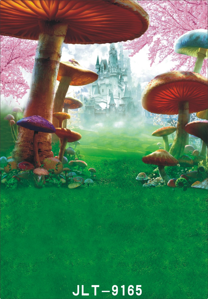 150x210cm castle backdrop  Mushroom image background Children photography background fond studio photo vinyle 200x300cm<br><br>Aliexpress