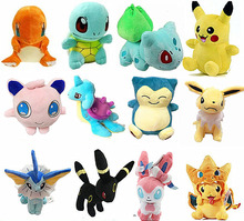 Figure Plush Toys Stuffed soft From Japan Doll Anime Pikachu Charizard Lapras Snorlax Sylveon Umbreon Kawaii Baby Adult Toy Gift(China)