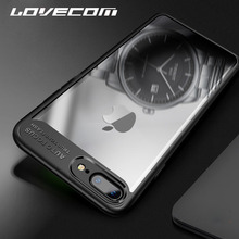 Buy LOVECOM iPhone 7 7Plus 6 6S Plus Case Soft TPU & Hard Acrylic Transparent Clear Protective Phone Cases Plain Back Cover Bags for $2.01 in AliExpress store