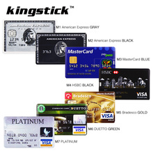Kingstick Credit Card USB Flash Drive 64G USB stick 32GB Pendrive High quality 4GB 16GB Pen Drive 8GB Memory stick U disk(China)