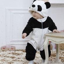 HOT Sale Baby Rompers Cute Infant Boy Girl Long Sleeve Jumpsuit Kids Warm Winter Panda Animal Hooded Romper Baby Outfits Clothes(China)