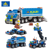 Hot sale DIY blocks truck toys building blocks sets educational toys best friend for children compatable with big brand blocks(China)