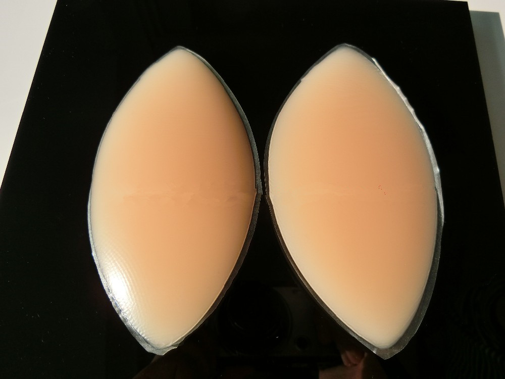 1pair Silicone Breast Chest Pad Insert Patch Medical Silicone Chest Expansion Boobs Enhancer Skin Color Safty Soft