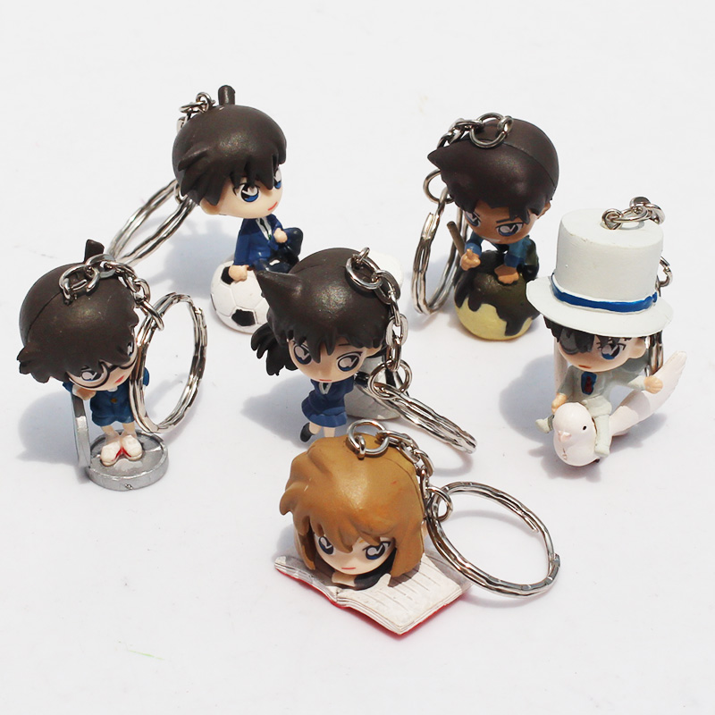 6Pcs/Set Detective Conan Keychain Figures Action Figure Toy With Keychain Keyring Collection Model Doll 3~5cm Free Shipping<br><br>Aliexpress