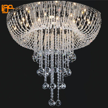 new contemporary living room bedroom crystal ceiling lights lustres decorative indoor lighting(China)