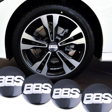 4Pcs/lot  56.5mm Metal BBS Logo Wheel Center Hub Caps Emblem Badge For VW Volkswagen Golf Car Badge Decal Car Decoration Sticker