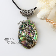 oval flower rainbow abalone oyster shell silver plated necklaces pendants 2013 cheap handmade jewelry
