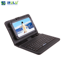 "New IRULU Tablet Case RUSSIAN KEYBOARD Case For 7""Tablet PC Pad Leather Cover With Micro USB Keyboard For Using Russian People"