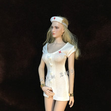 Estartek ET-CJ-004 1/6 Sexy White Nurse Dress set for 12inch phicen jodoll verycool Action Figure DIY(China)