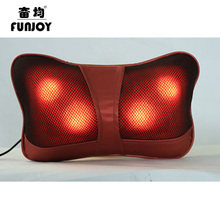 Shiatsu Pillow Massager Multifunction Auto Massage pillow Cervical Lumbar Leg Neck Heating Body Massager Home Car Dual-use