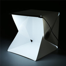 Portable Folding Lightbox Photography Studio Softbox LED Light Soft Box for iPhone Samsang HTC DSLR Camera Photo Background(China)