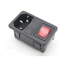 Power Switch with Fuse Indicating AC Outlet Plug Socket 10PCS