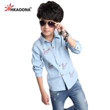 Explosion Models Origami Shirts For Baby Boys Girls Spring Autumn Shirts Blouse Children Lapel Paper Cranes Tops Tees Clothes