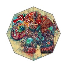 Tribal Floral Pattern Elephant And France Paris Map Stylish Unique Personalized Custom Foldable Umbrella