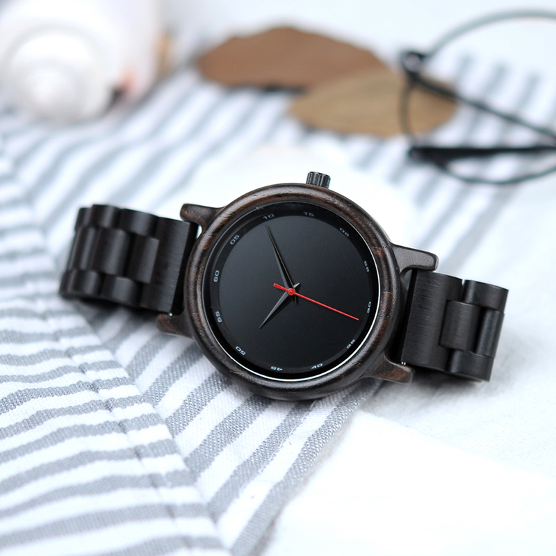 Zegarek drewniany Bobo Bird Black P10 11