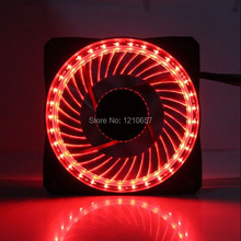 1PCS 12V 3Pin 4Pin 120mm x 25mm Computer PC Case Cooling Eclipse Fan LED Red 32 light