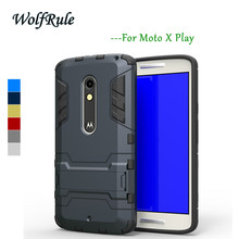 WolfRule Anti-knock Case For Moto X Play Cover Silicone + Light Plastic For Moto X Play Case For Motorola Moto X Play XT1563 <