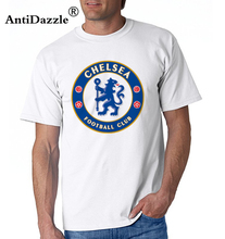 Antidazzle 2017 Fashion England Chelsea FC Men's Short Sleeve T shirt Hipster Design Male O-neck T-shirt Vintage Punk Tees(China)