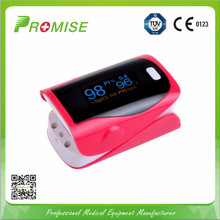 Promise Pink Fingertip Pulse Oximeter Color OLED Display SPO2 PI PR Oximetro De Dedo Portable Pulsometro for Health Care