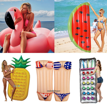 Buy 6 Style Inflatable Pool Float Giant Swan Watermelon Floats Pineapple Flamingo Swimming Ring Child&Adult Water Toy boia piscina for $22.67 in AliExpress store