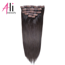 "Clip In Human Hair Extensions European Straight Hair Dark Brown 2# 70-85G/Set Remy Hair Weave With 14 Pcs Clips 14-22"" In Stock"