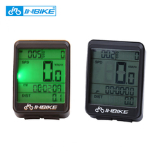 INBIKE Waterproof Bicycle Computer Wireless MTB Road Bike Cycling Odometer Rainproof Bicycle Speedometer Watch LED Digital Rate